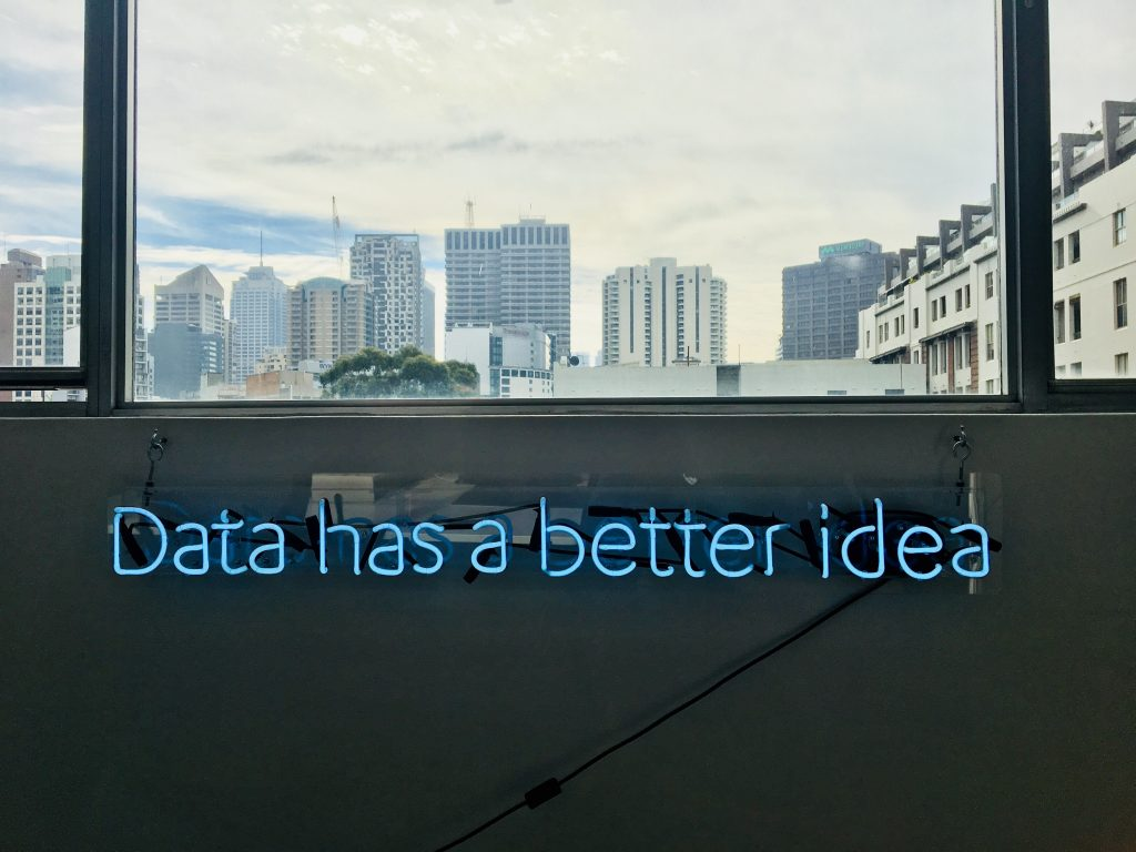 Data has a better idea neon sign